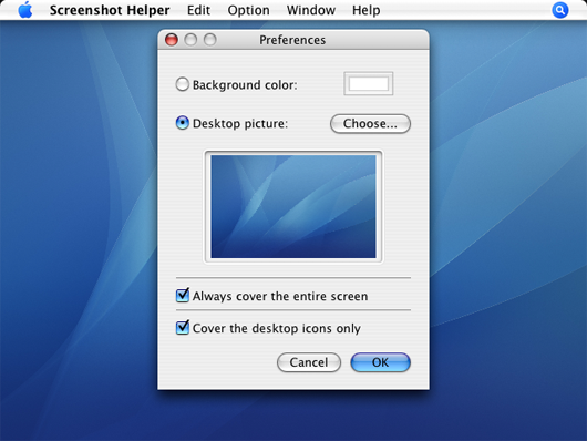screenshot helper screenshot